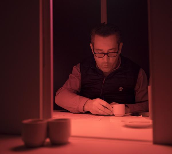 Au laboratoire d'analyses sensorielles du Cirad à Montpellier, une dégustation de café inédite s'est déroulée le 10 décembre 2020 © C. Cornu, Cirad