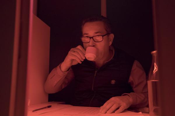 Une dégustation de café inédite s'est déroulée le 10 décembre 2020 au laboratoire d'analyses sensorielles du Cirad à Montpellier. © C. Cornu, Cirad