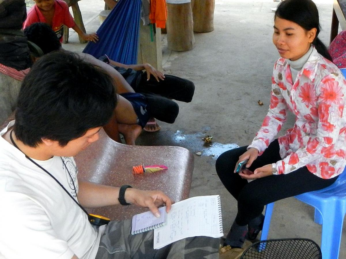 Les enquêtes ethnologiques montrent que les Cambodgiens ne voient pas les chauves-souris comme une source potentielle de maladie © J. Cappelle, Cirad