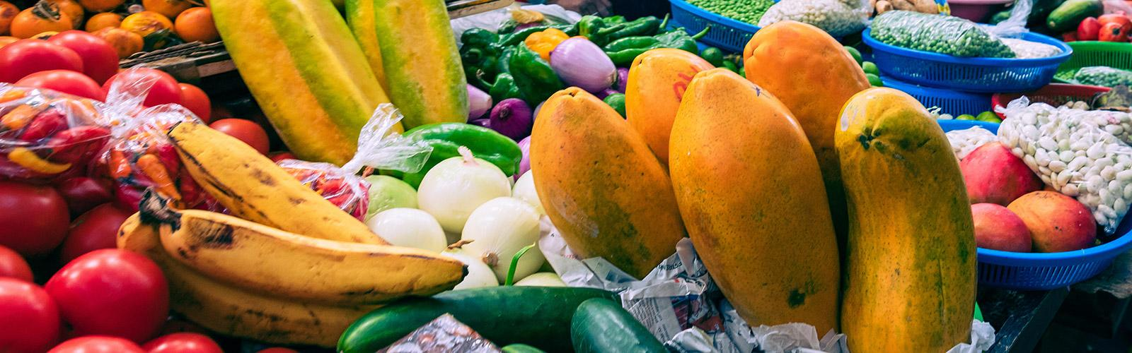 Traditional food market selling agricultural products and other food items in Cuenca, Ecuador, South America © Curioso, Adobe Stock